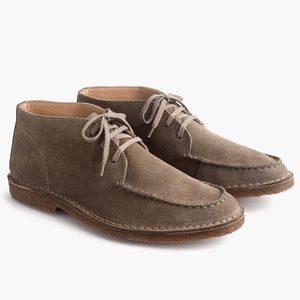 J. Crew Suede Macalister Boot with Moccasin Toe